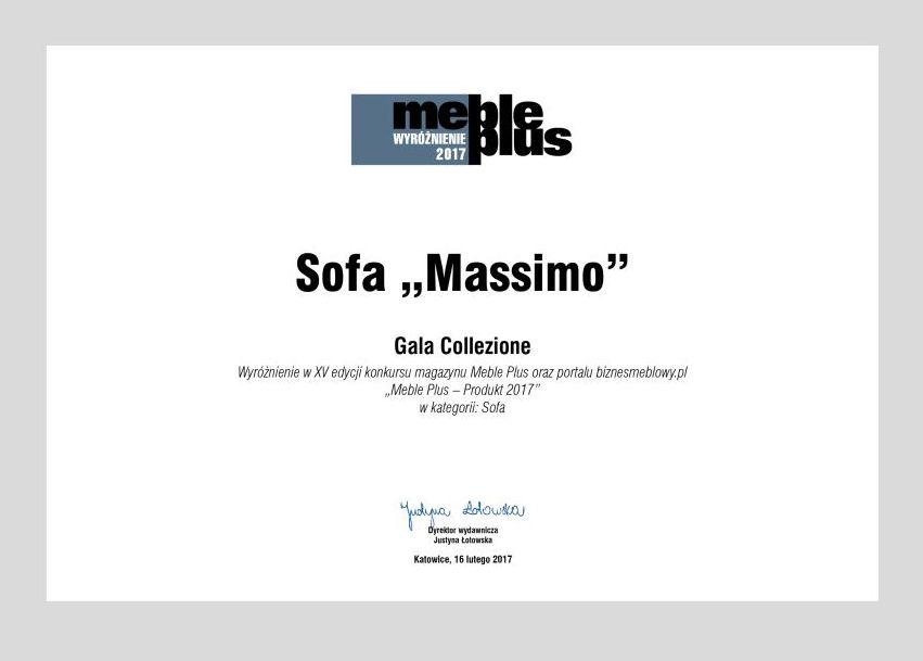 Wyróżnienie Meble Plus 2017 dla systemu modułowego Massimo marki Gala Collezione