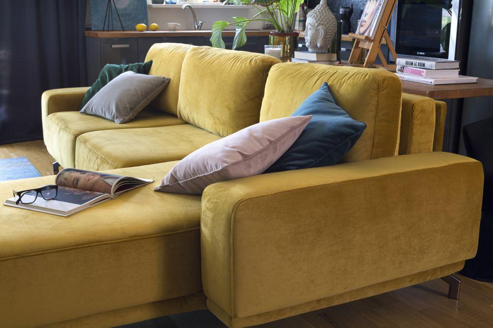 Wypoczynkowy narożnik Veneto w kolorze miodowym | Sweet Sit
