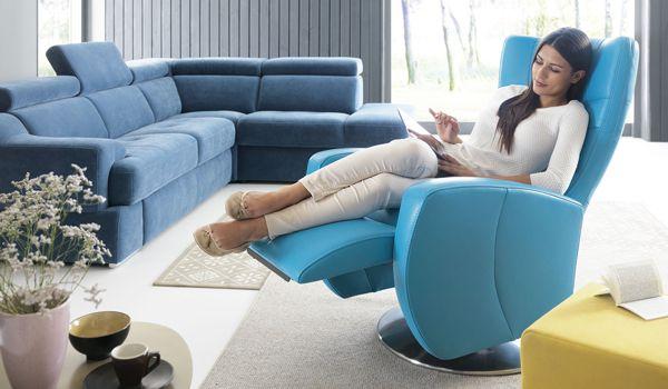 Meble tapicerowane z funkcjami podnoszącymi komfort wypoczynku | Gala Collezione