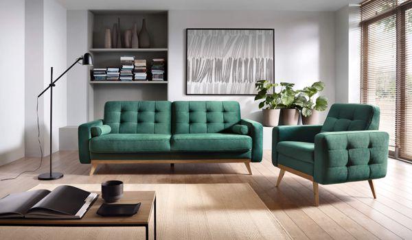 Zielone meble wypoczynkowe w salonie | Gala Collezione