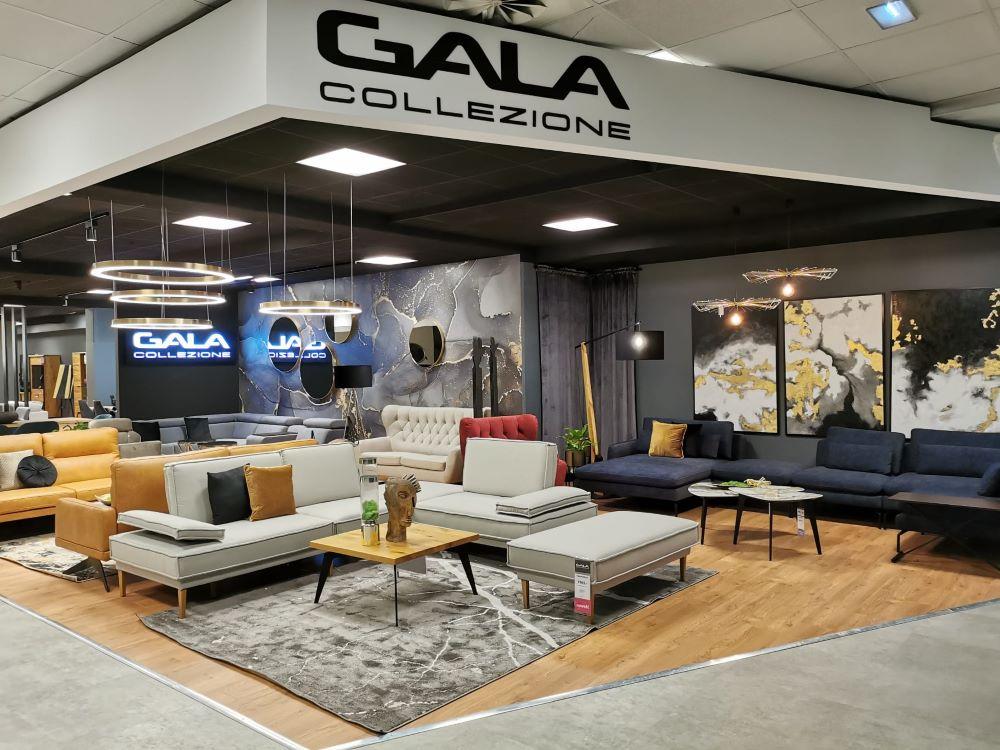 Salon meblowy Gala Collezione we Wrocławiu od strony wejścia głównego.