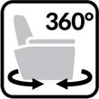 Fotel na obrotowej podstawie