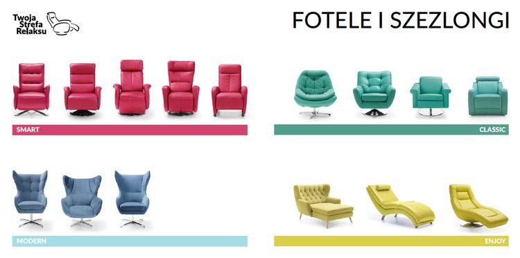 Kolekcja foteli do salonu marki Gala Collezione