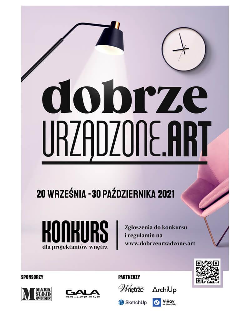 Plakat konkursu dla architektów i projektantów współorganizowany przez Gala Collezione.