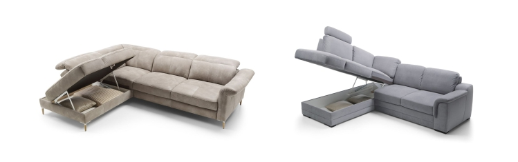 Sofa z pojemnikiem na pościel