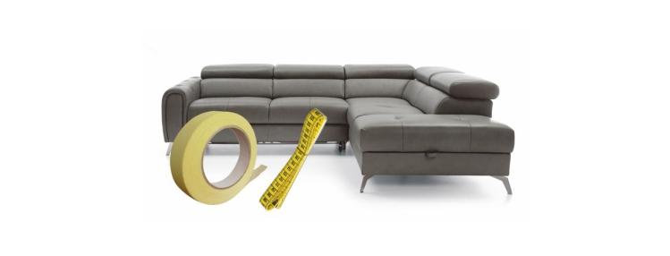 Sprawdź ile miejsca w pokoju zajmie sofa, którą wybrałeś
