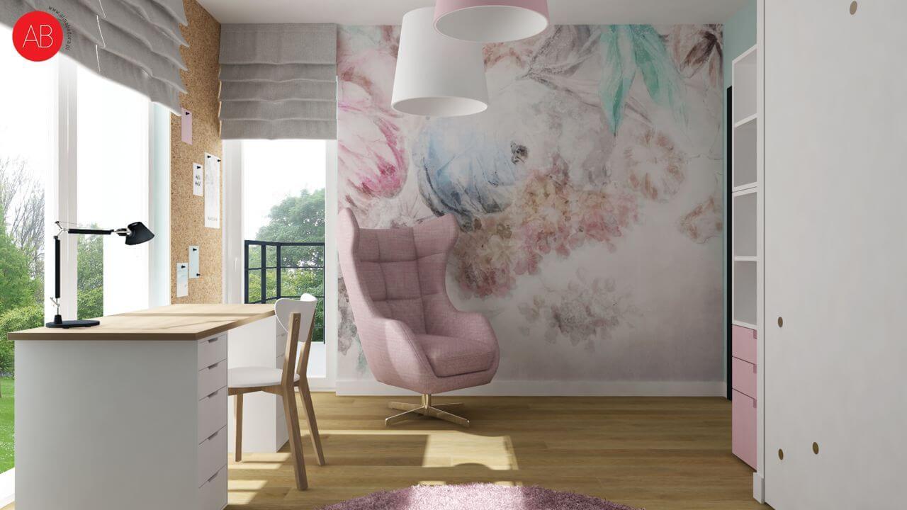 Fotel Neo na wizualizacji autorstwa Aliny Badory, architekta wnętrz
