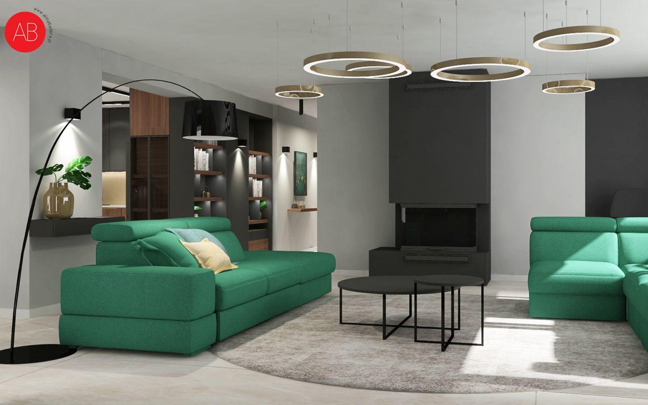 Sofa Plaza na wizualizacji autorstwa architekt wnętrz Aliny Badory | Gala Collezione Inspiruje