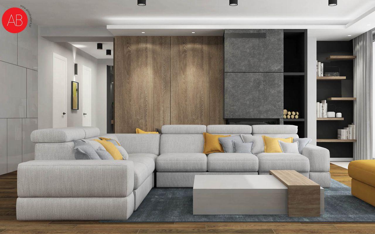 Narożnik Plaza na wizualizacji wnętrza autorstwa Aliny Badory Pracownia Projektowania Wnętrz | Inspiracje Gala Collezione