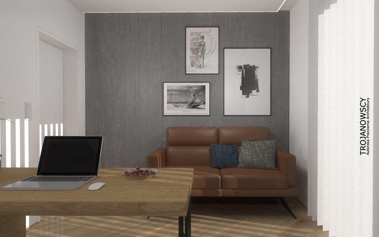 Sofa Genova na wizualizacji autorstwa APA Trojanowscy - Projektowanie Wnętrz