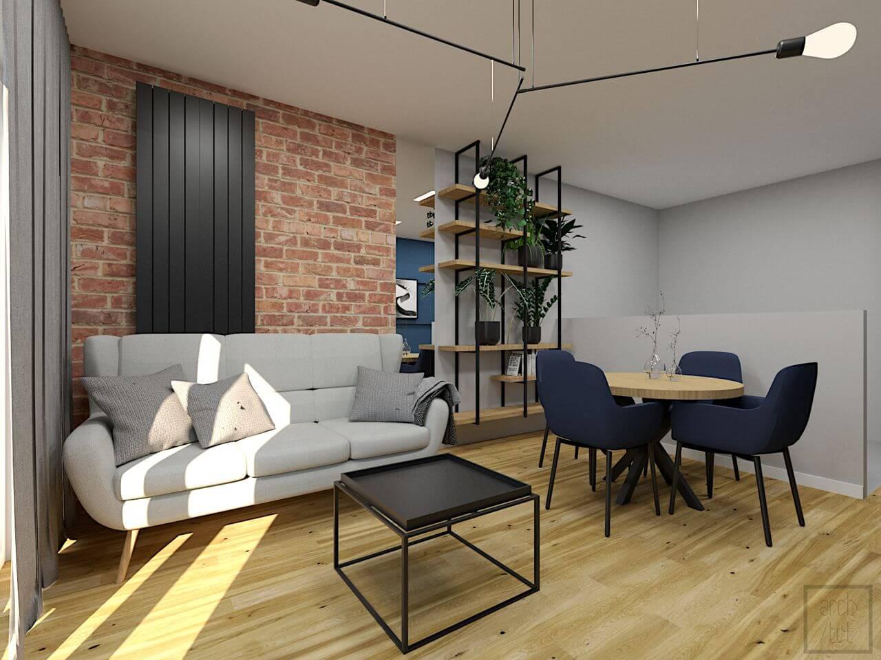 Sofa Forli na wizualizacji przygotowanej przez biuro projektowe Arch/tecture | Gala Collezione Inspiruje