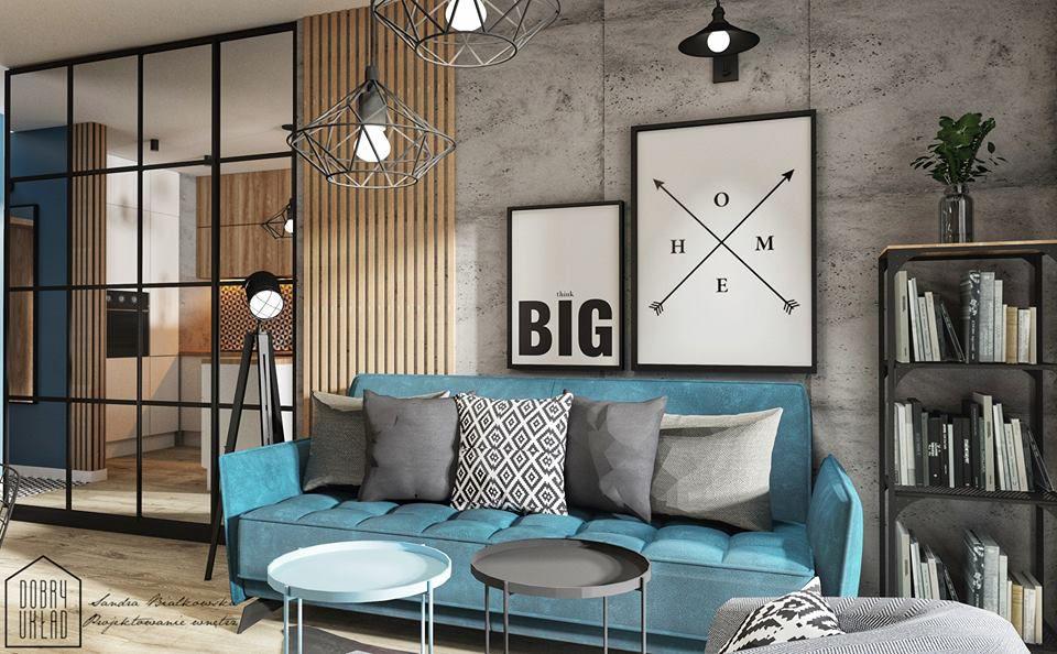 Sofa Vigo na wizualizacji autorstwa Sandry Białkowskiej Dobry Układ