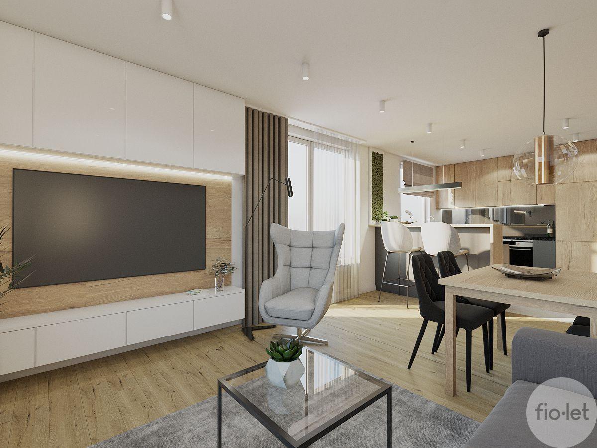 Fotel Neo na wizualizacji autorstwa Wiolety Kałuży, projektanta wnętrz z pracowni Fiolet Architektura Wnętrz