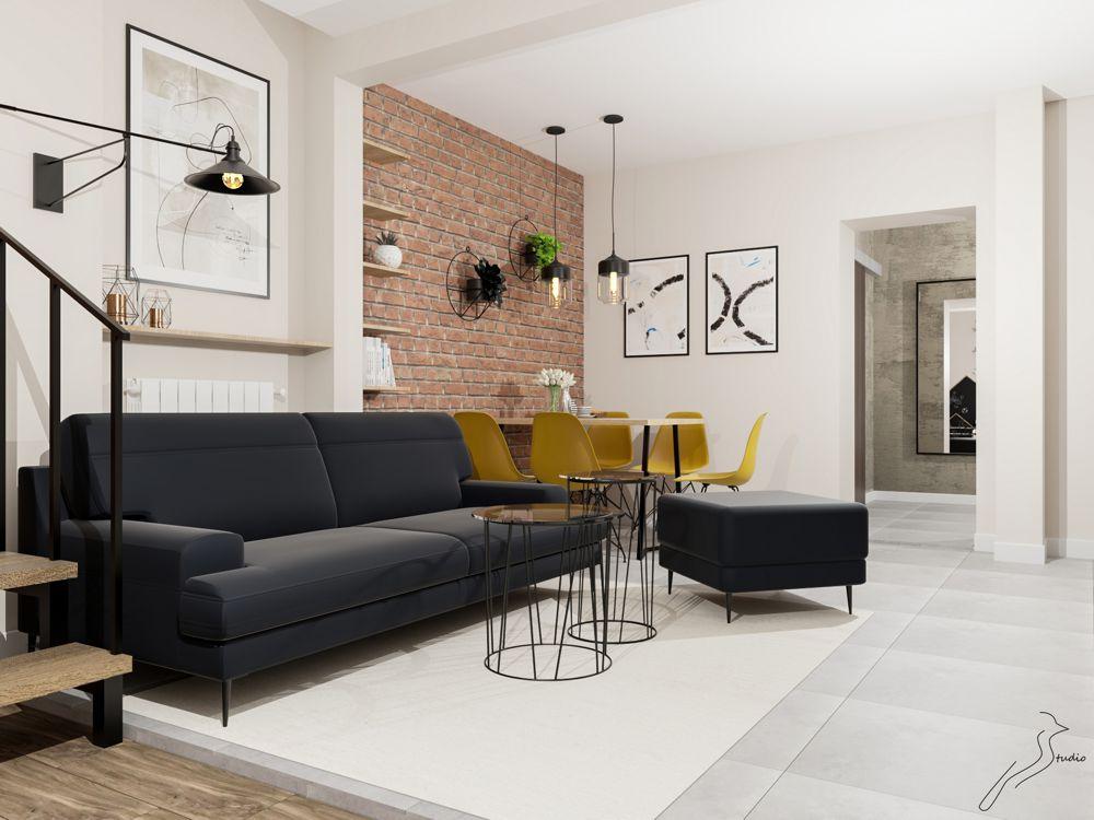 Sofa Monady na wizualizacji autorstwa Izabeli Sikorskie z Biura Projektowego Sikorka Studio