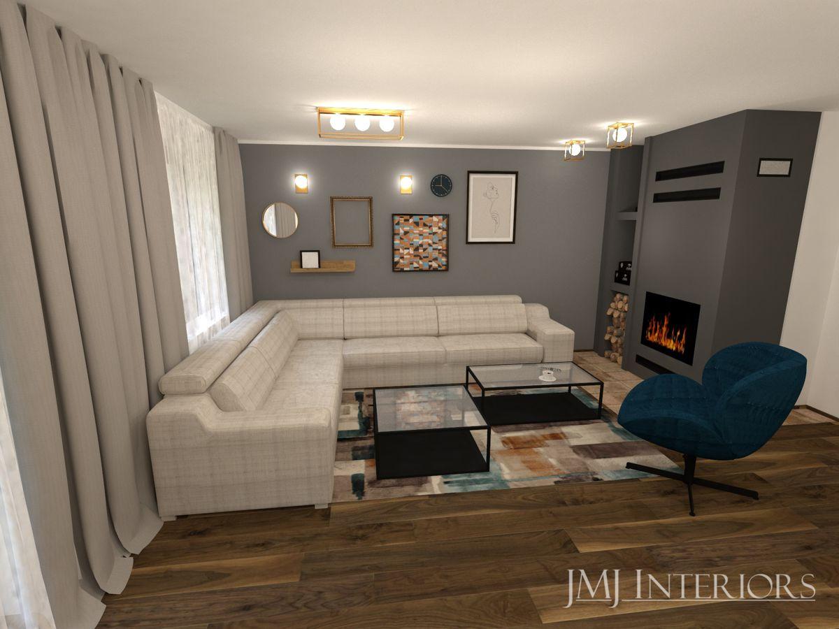 Narożnik Plaza na wizualizacji autorstwa pracowni projektowej JMJ Interiors | Inspiracje Gala Collezione