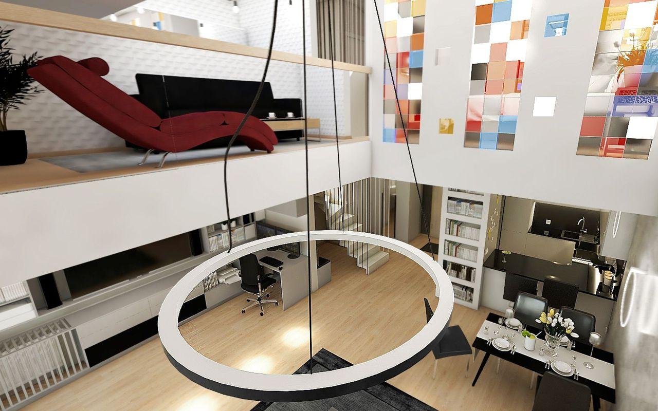 Szezlong Bibbi na wizualizacji wnętrza autorstwa Kingi Kołodziej Architektura Wnętrz | Gala Collezione Inspiruje