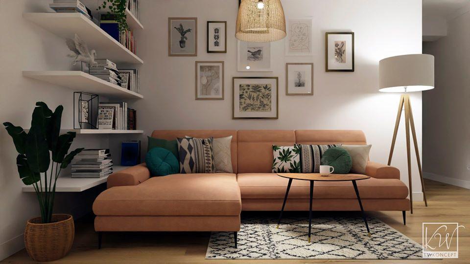 Sofa Monday na wizualizacji przygotowanej przez KW Koncept