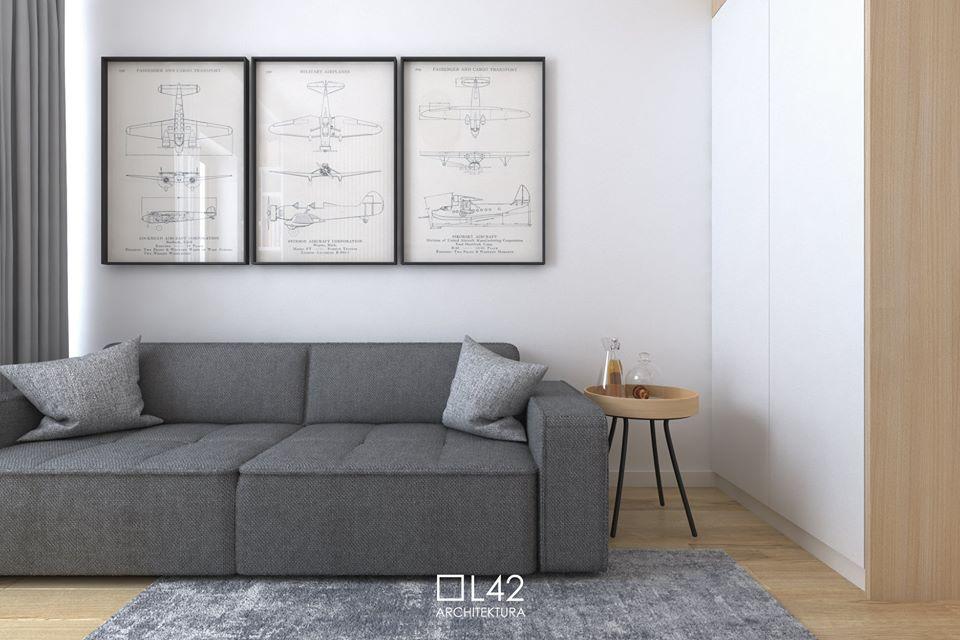 Sofa Modo marki Sweet Sit na wizualizacji Daniela Niewiadomskiego z pracowni projektowej L42 Architektura