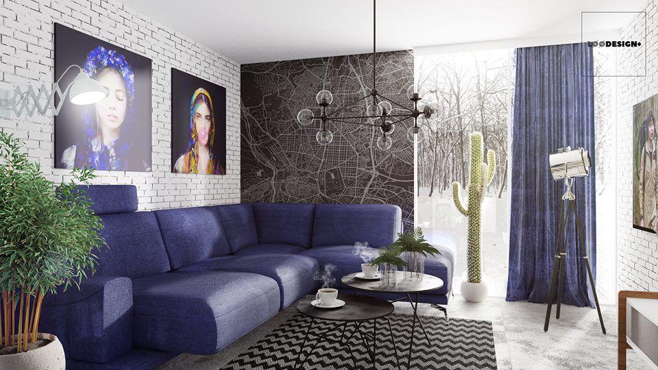 Narożnik Merano na wizualizacji autorstwa Łukasza Święcickiego Loo Design