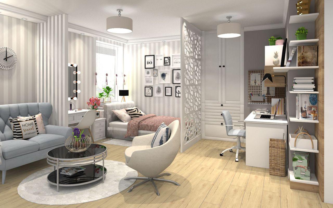 Sofa Voss na wizualizacji wnętrza autorstwa Marty Sergiej, architekta wnętrz