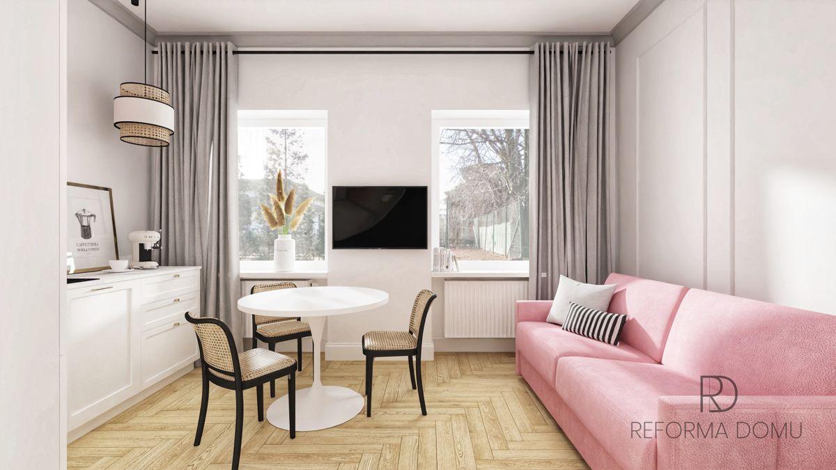 Sofa Ema na wizualizacji wnętrza autorstwa Marty Potorskiej z pracowni Reforma Domu | Inspiracje Gala Collezione