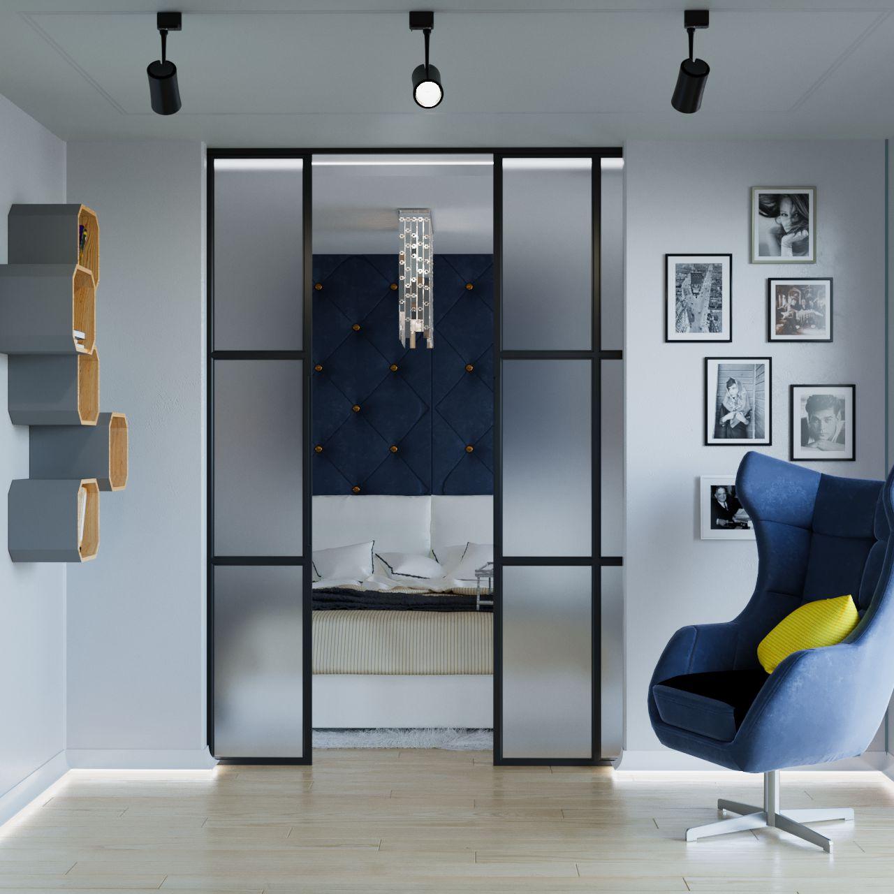 Fotel Neo Gala Collezine na wizualizacji autorstwa pracowni projektowej Mija Design