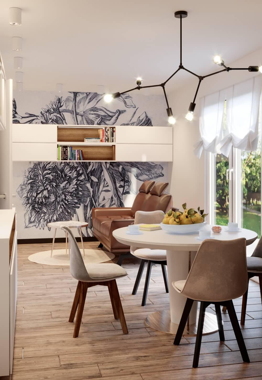 Sofa Nicea na wizualizacji autorstwa pracowni Mija Design
