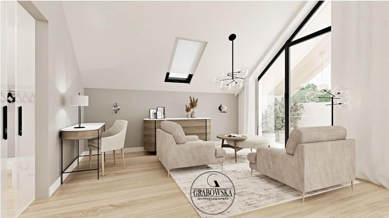 Fotele Monday na wizualizacji autorstwa Grabowska Architektura Wnętrz | Inspiracje Gala Collezione