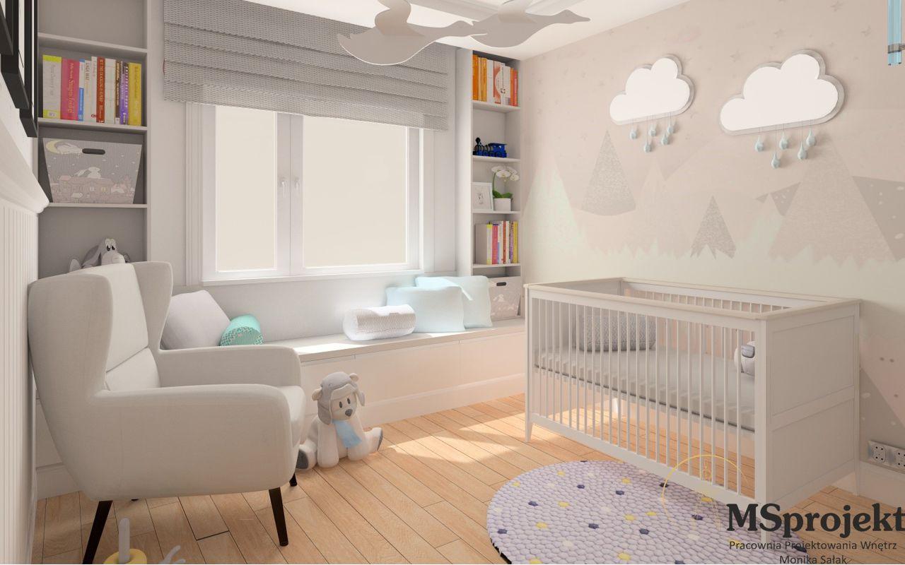 Fotel Forli na wizualizacji przygotowanej przez MSprojekt