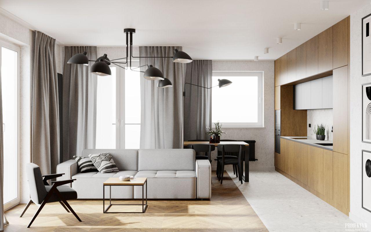 Sofa Modo marki Sweet Sit na wizualizacji przygotowanej przez Pracownia projektowa PRØJEKTYW