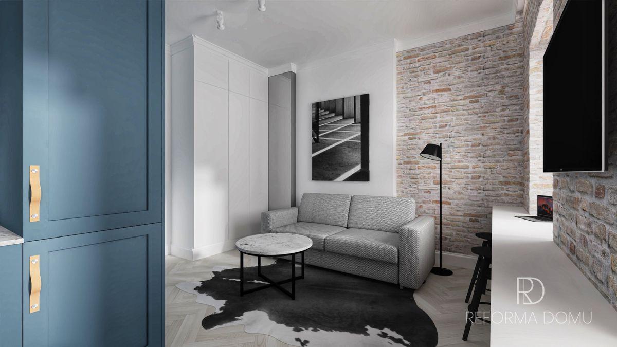 Sofa Sora na wizualizacji autorstwa Marty Potorskiej, architekta wnętrz | Inspiracje Gala Collezione