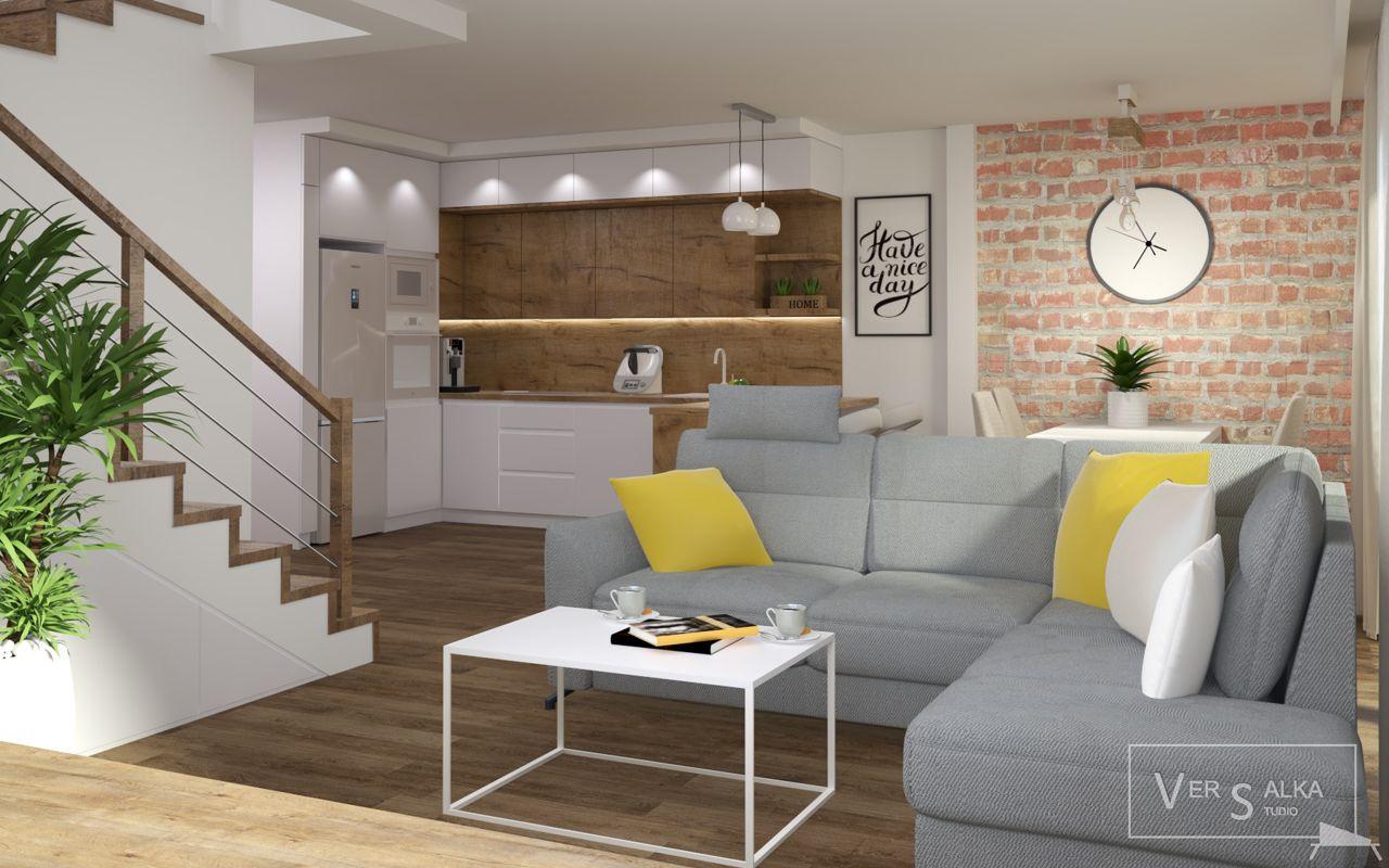 Narożnik Orly Sweet Sit na wizualizacji biura projektowego Versalka Studio