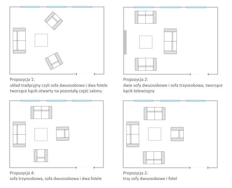 Jak urządzić duży salon - przykładowe sposoby ustawienia mebli