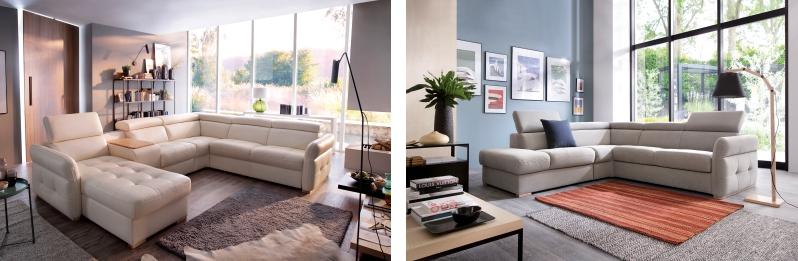 Przykładowe konfiguracje sofy z elementów systemu modułowego Gala Collezione - inspiracja