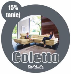 Promocja Gala Collezione - narożnik Coletto 15% taniej