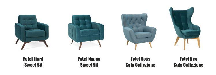 Zielone fotele Gala Collezione i zielony fotel Sweet Sit